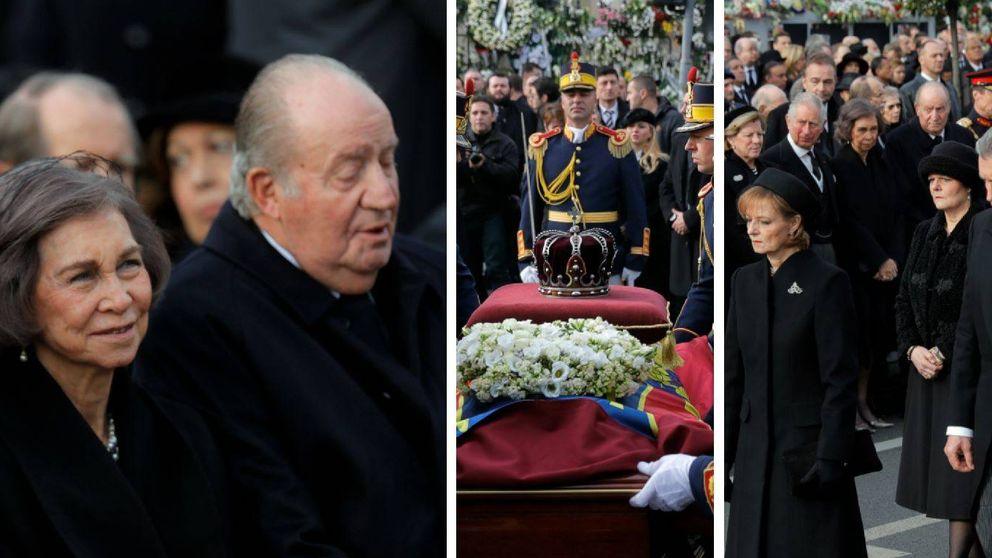 Juan Carlos y Sofía, en el funeral de estado de Miguel I de Rumanía