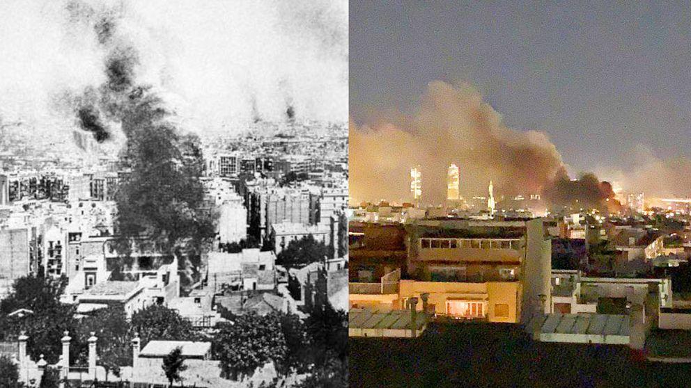La 'Rosa de Foc', la vieja táctica de los violentos para incendiar Barcelona