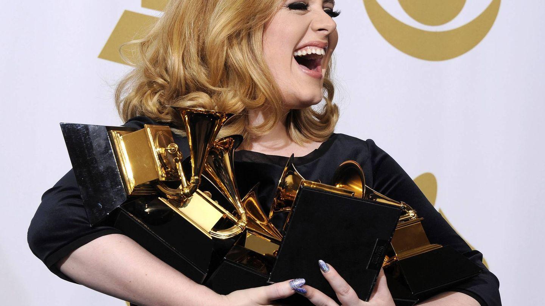 Adele durante la la 54 edición de los Grammy. (EFE)