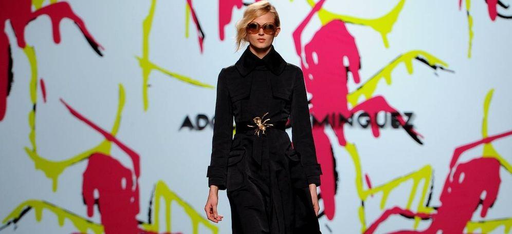 Foto: Modelo de Adolfo Domínguez en la Cibeles Madrid Fashion Week (Getty)