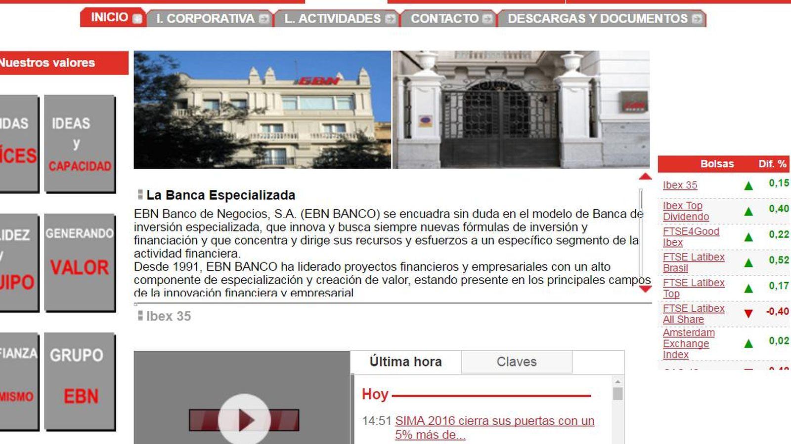 Foto: Web de EBN banco.