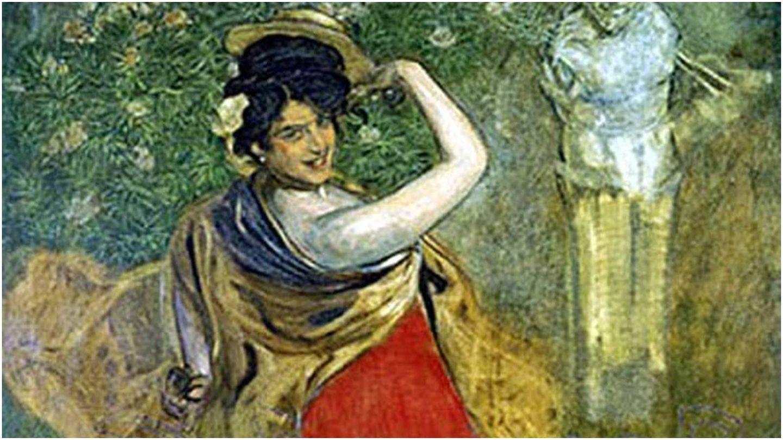 'Anita Delgado la Camelia', retrato de Anselmo Miguel Nieto de 1905.