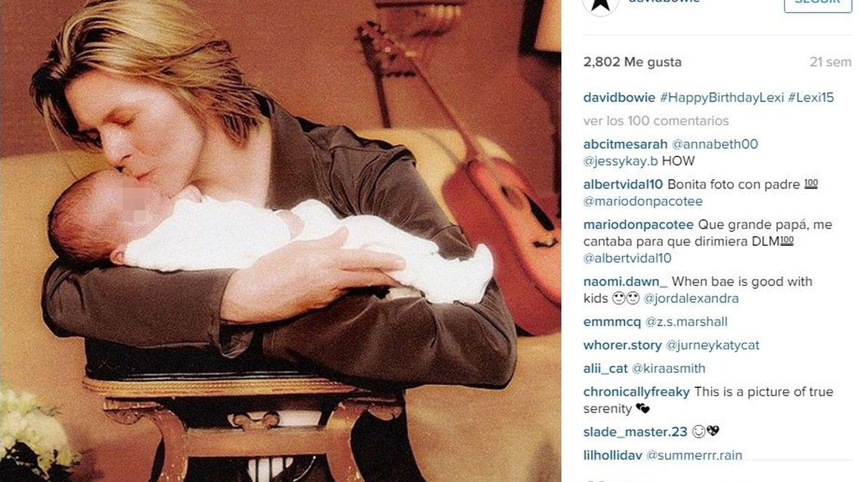 Bowie con su hija (Instagram)