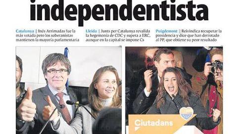 Histórico pero insuficiente: las portadas de los diarios tras los resultados del 21-D