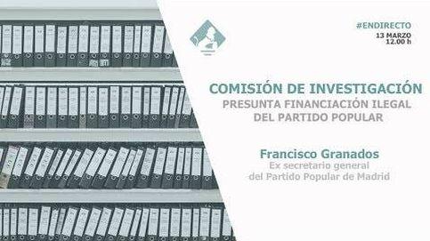 Siga en directo la comparecencia de Francisco Granados