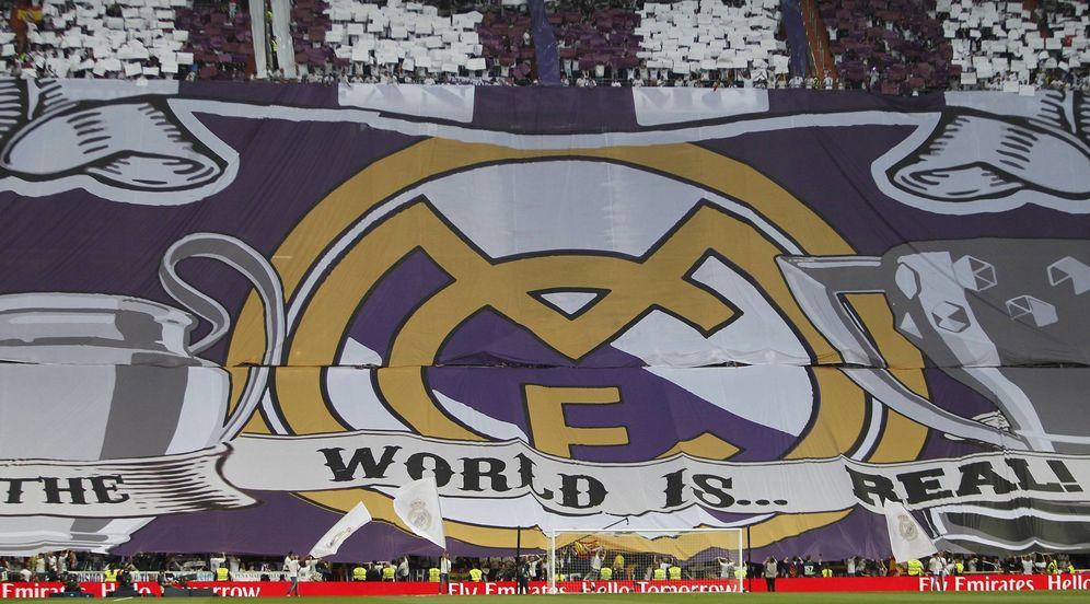 Foto: Imagen del fondo sur del Santiago Bernabéu antes del Clásico. (FOTO: Cordon Press)