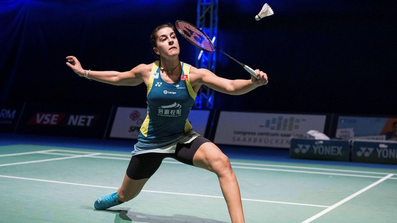 Carolina Marín durante un torneo. (Efe)