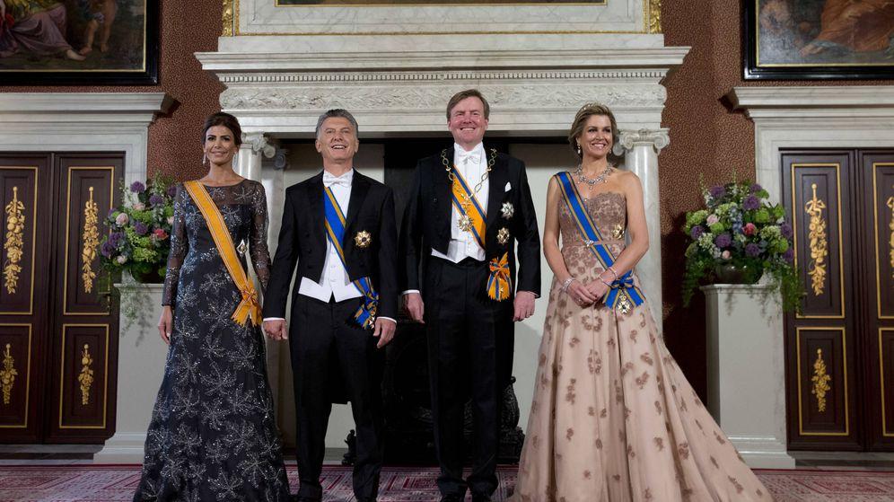 Foto: Los reyes de Holanda junto al presidente de Argentina y la primera dama. (Gtres)
