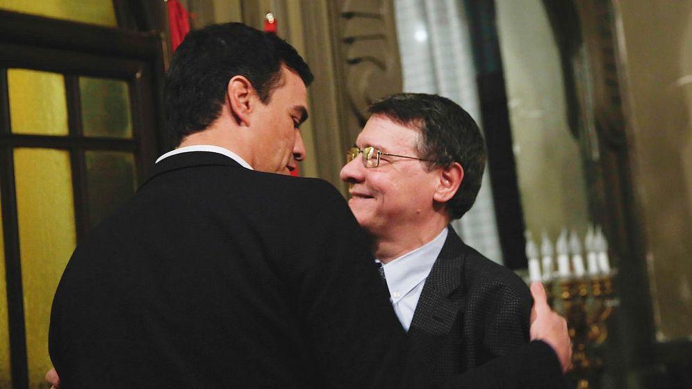 Foto: Pedro Sánchez durante la presentación del libro de Jordi Sevilla. (Efe)