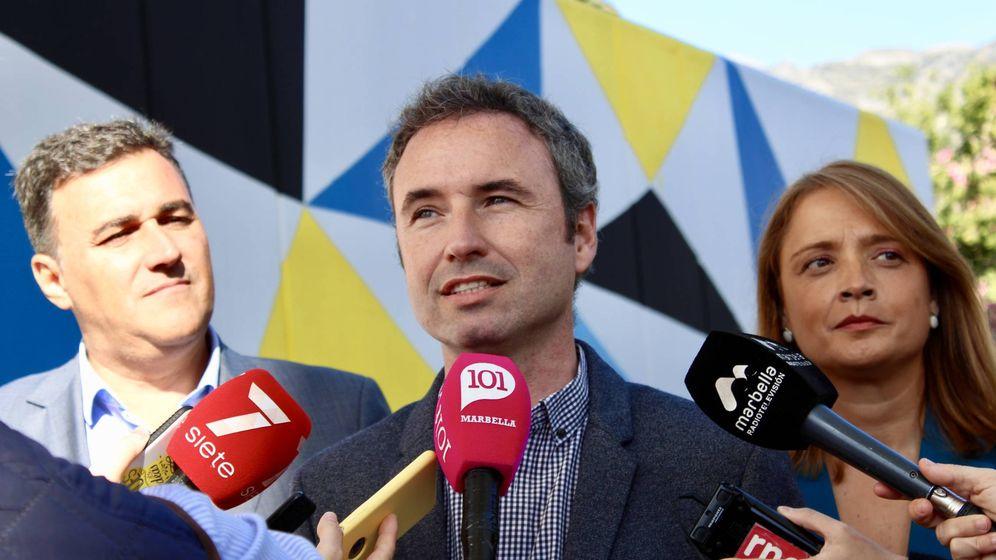 Foto: Guillermo Díaz, en una comparecencia ante los medios en la pasada campaña electoral (EFE).