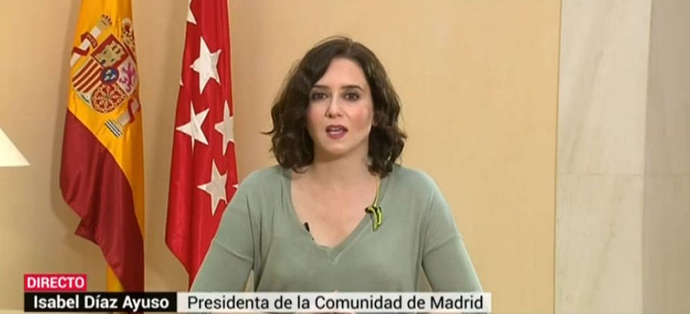 Foto: Isabel Díaz Ayuso, durante la entrevista.