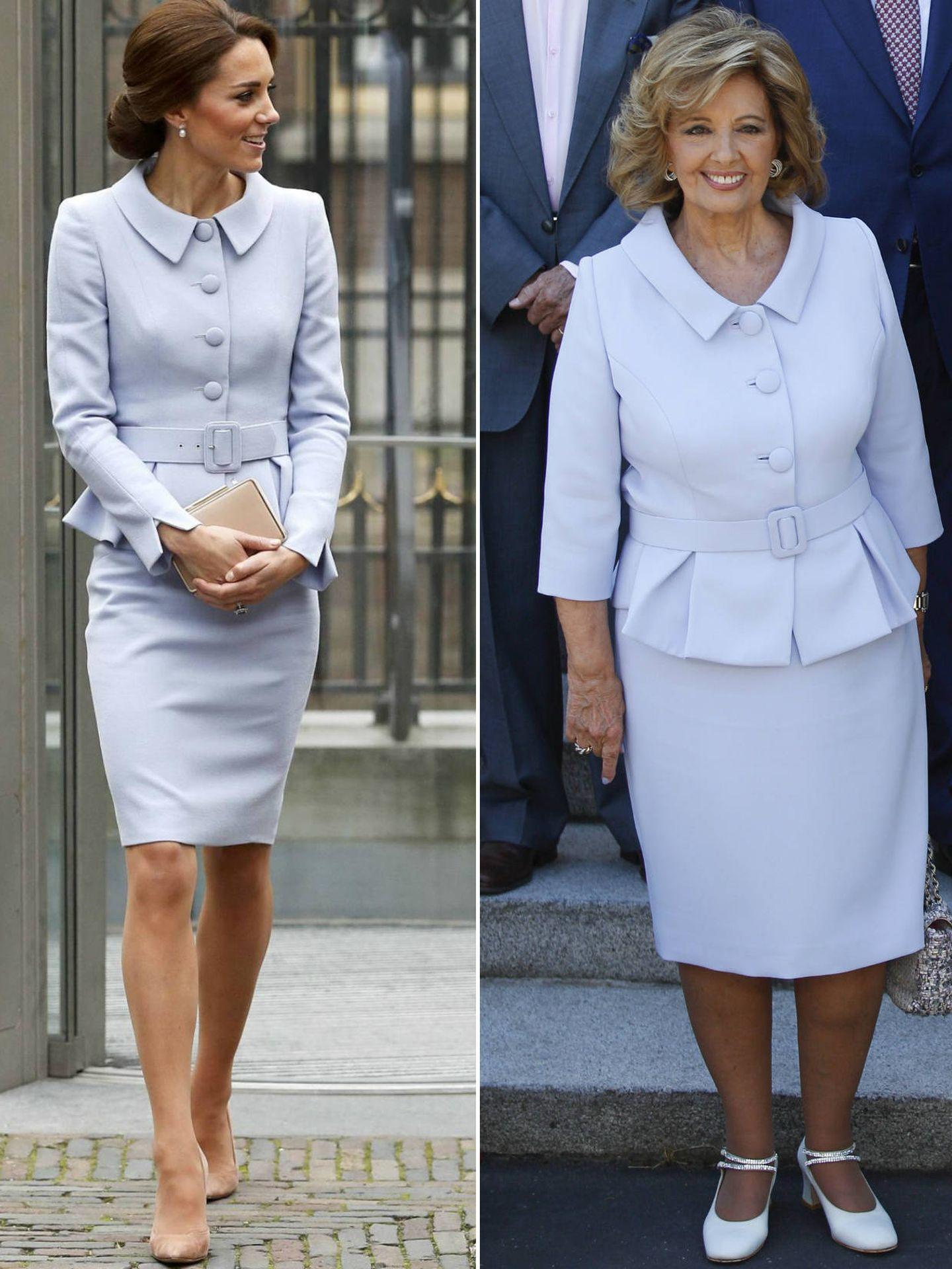 Kate y María Teresa con un look muy similar. (Gtres)