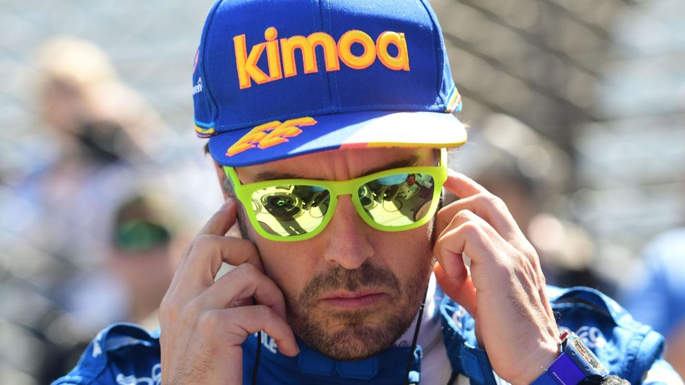 Fernando Alonso en las 500 Millas de Indianápolis: el agua del tercer día