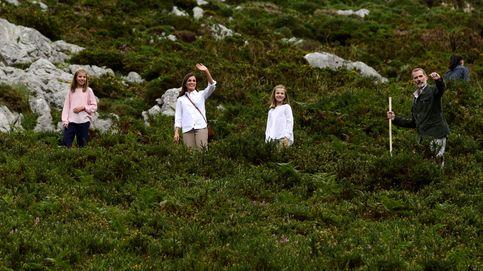 La caminata de la reina Letizia por las montañas de Covadonga