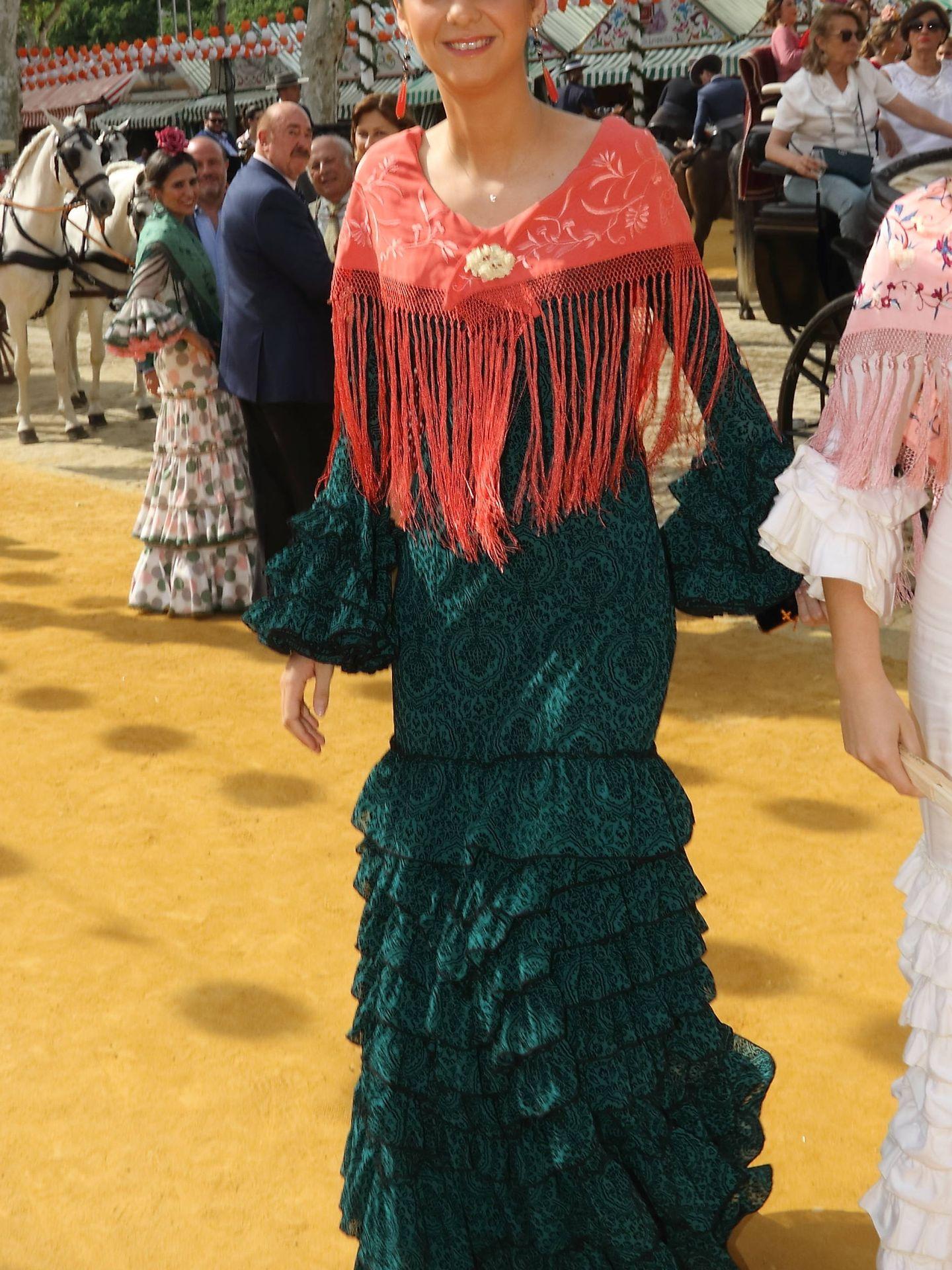 Victoria Federica, vestida de flamenca en la Feria. (Lagencia Grosby)