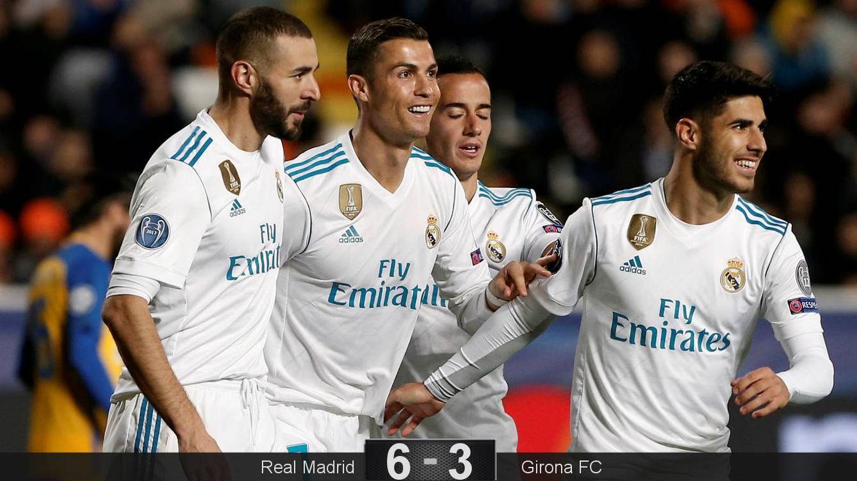 Foto: Benzema, Cristiano, Lucas y Asensio. (EFE)