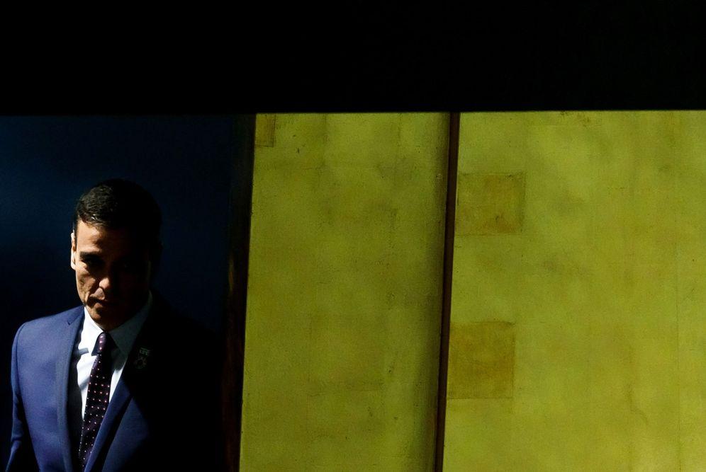 Foto: Pedro Sánchez, este 25 de septiembre a su llegada a la sede de la ONU en Nueva York. (EFE)