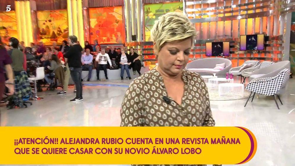Foto: Terelu Campos abandonando 'Sálvame'. (Mediaset España)
