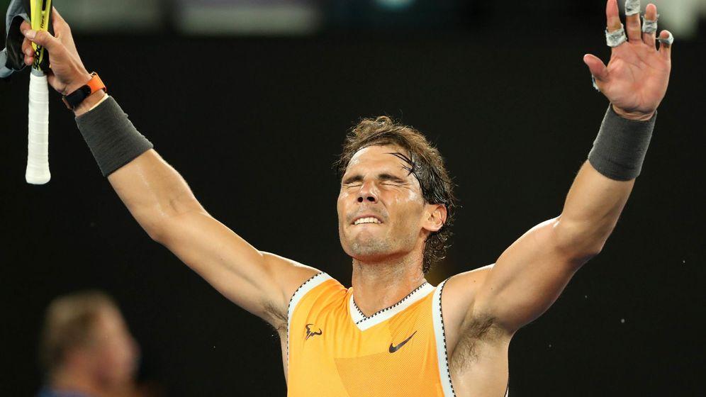 Foto: Nadal celebra su victoria este jueves en Australia. (Reuters)