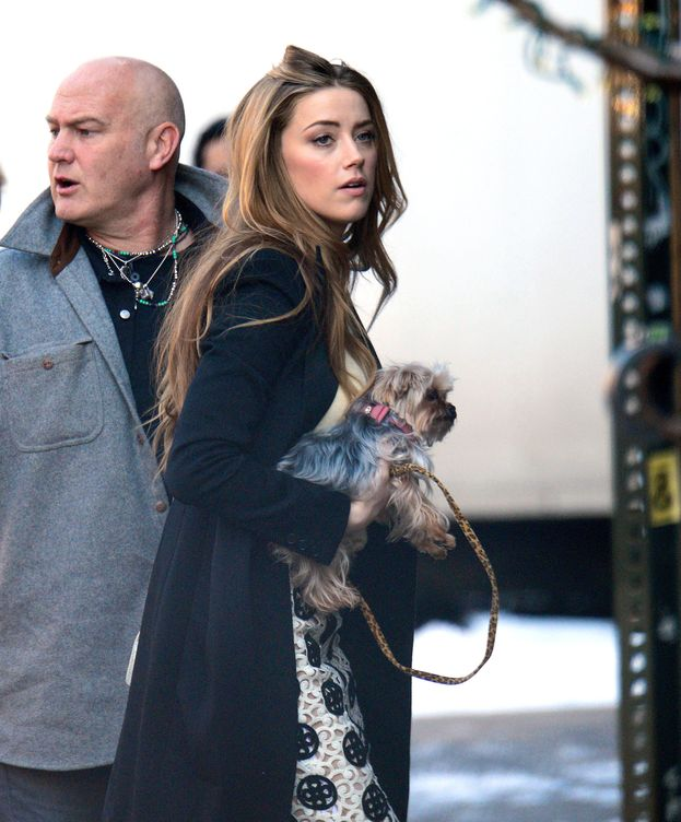 Foto: La actriz con uno de sus perros en Nueva York (Gtres)