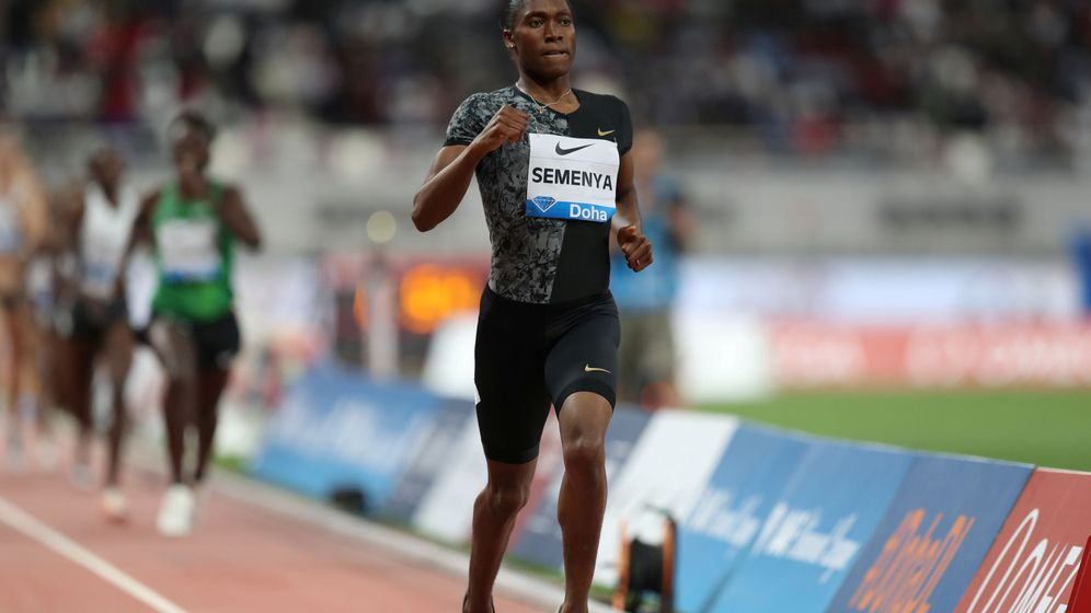 Foto: Caster Semenya corrió y ganó su última carrera de 800 el 3 de mayo en Doha (Qatar). (Reuters)