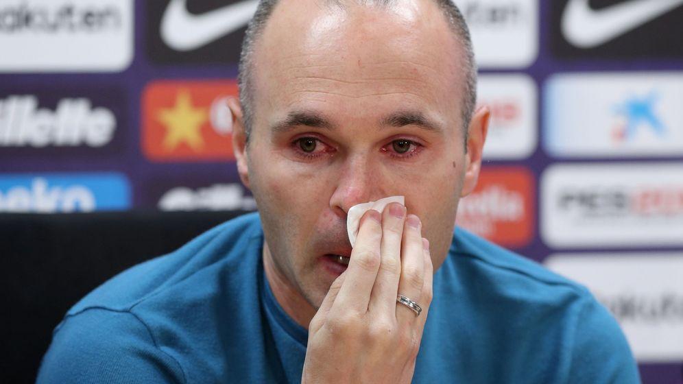 Foto: Andrés Iniesta durante la rueda de prensa de este viernes en la Ciudad Deportiva Joan Gamper. (Reuters)
