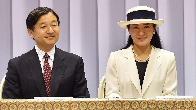Naruhito y su mujer, Masako. (Getty)