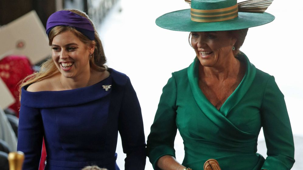 Foto: Eugenia York, con su madre. (Getty)