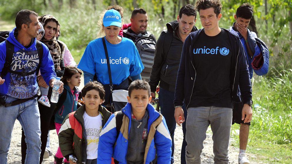 Orlando Bloom visita un campo de refugiados sirios