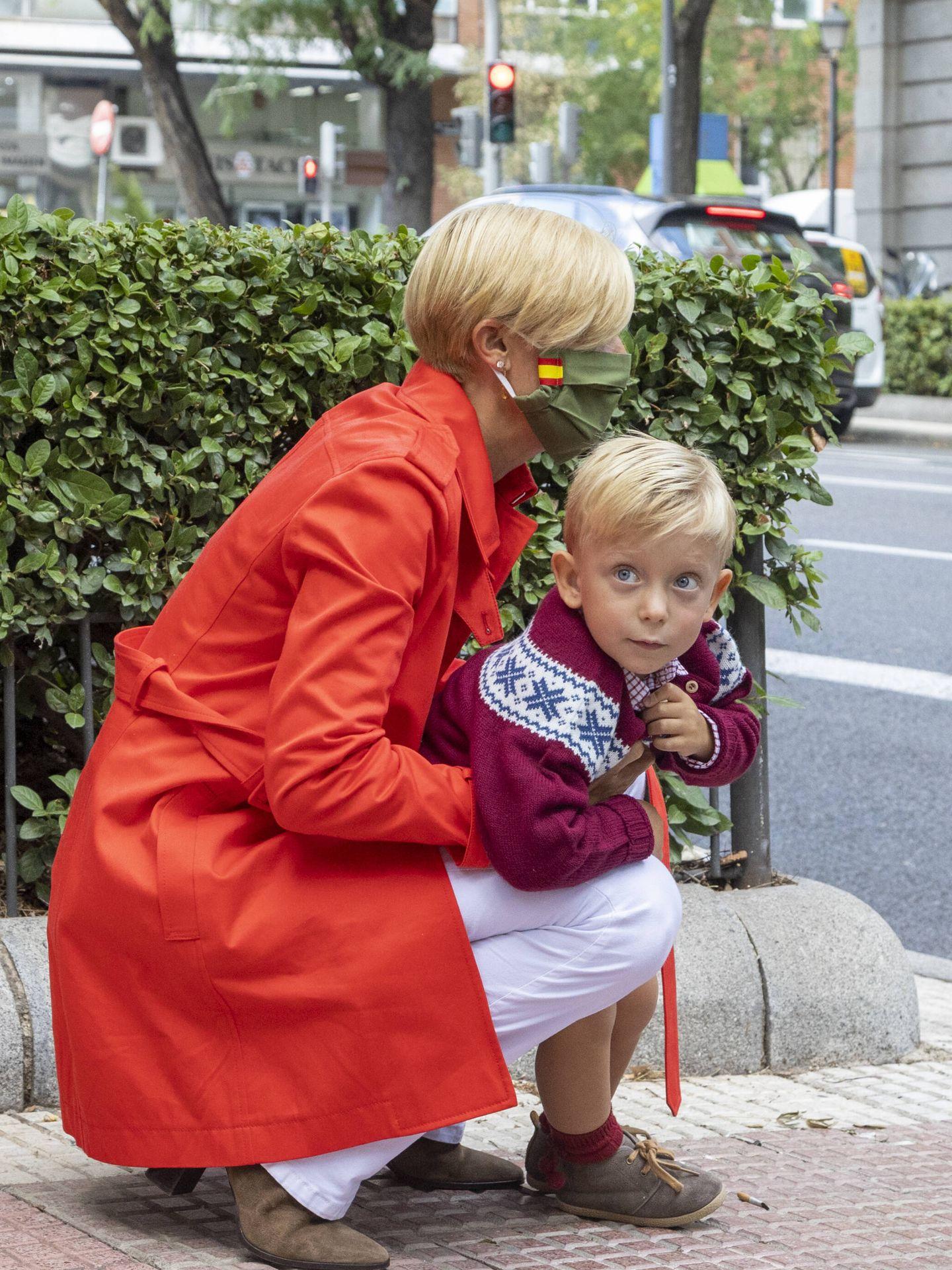 María Zurita, con su pequeño Carlos. (Foto: JSA)