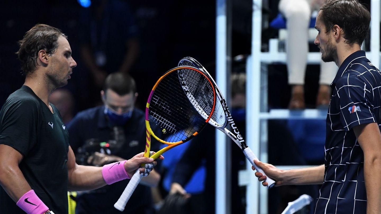 Medvedev derrotó a Nadal el pasado 21 de noviembre en el Masters de Londres. (EFE)