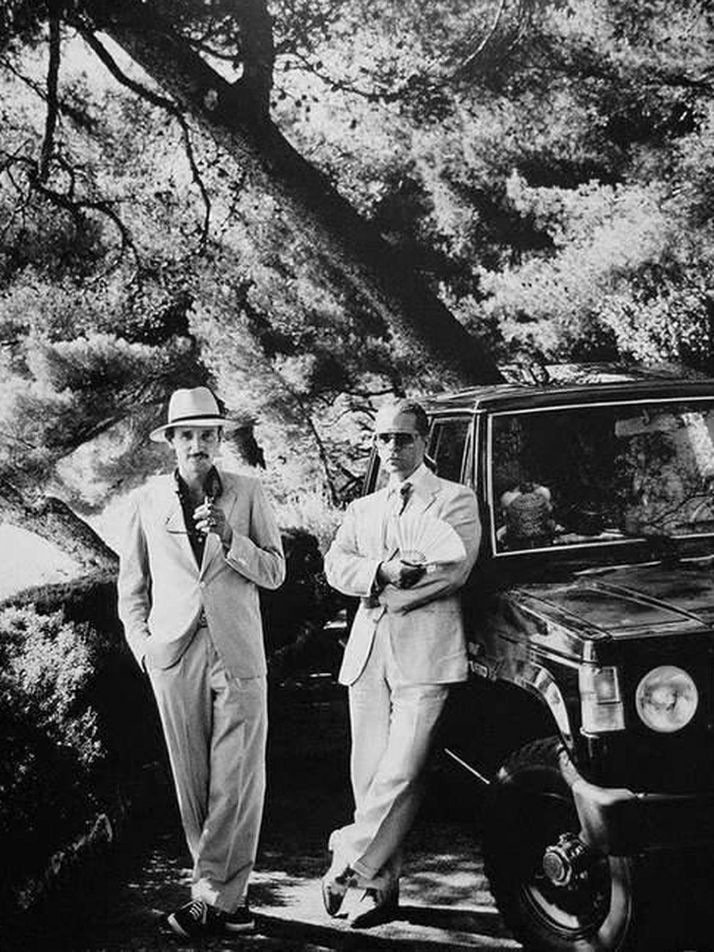 Karl Lagerfield y Jacques de Bascher.  (Helmut Newton)