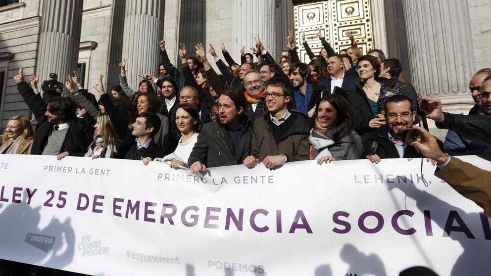Rodea el Congreso: prueba de fuego de una legislatura en la calle de Podemos