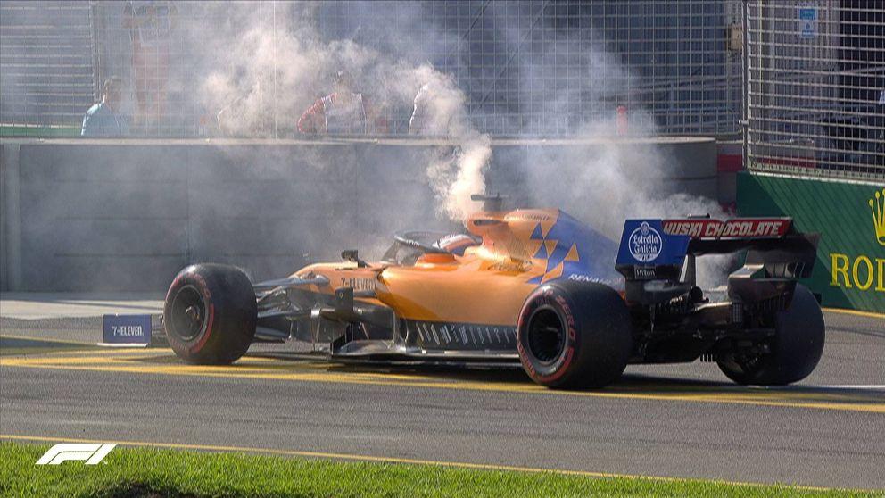 El fin de semana lleno de mala suerte de Carlos Sainz: su McLaren acabó ardiendo