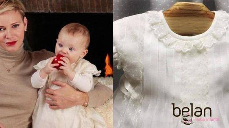 Gabriella con el vestido de Belan.