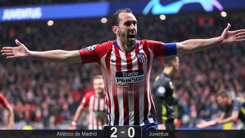 Foto: Godín marcó el segundo gol del Atlético de Madrid ante la Juventus. (Reuters)