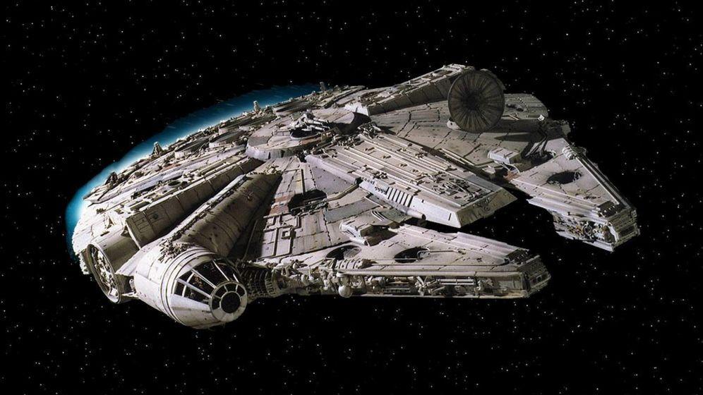Foto: El Halcón Milenario, en una de las películas de la saga 'Star Wars'. (EFE)