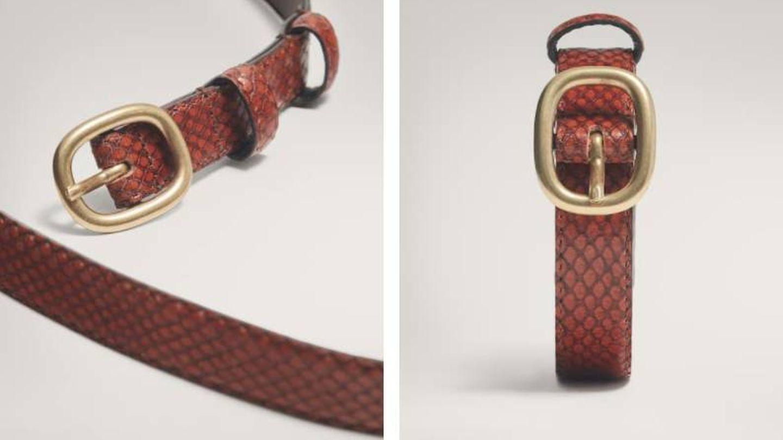 Cinturón rebajado de Massimo Dutti. (Cortesía)