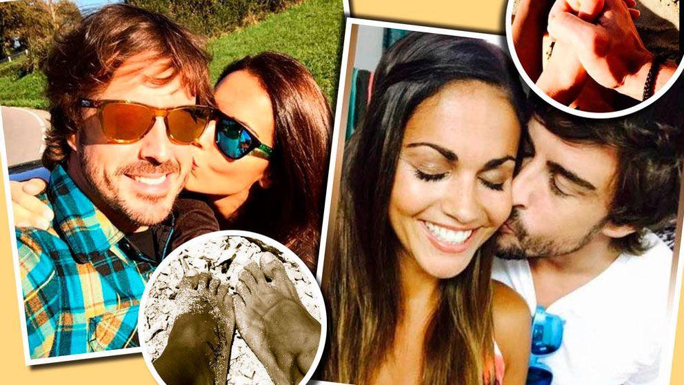 El primer año de Fernando Alonso y Lara Álvarez, en imágenes