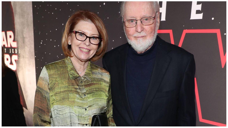 Samantha Winslow y John Williams, en un estreno de cine. (Getty)