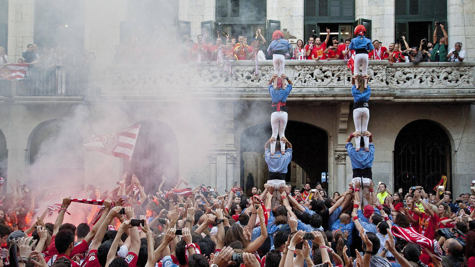 Foto: Aficionados del Girona - Archivo. (EFE)