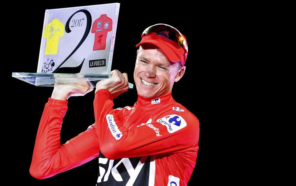 Foto: El Ganador de la Vuelta a España 2017, el ciclista británico del equipo Sky Chris Froome. (EFE)