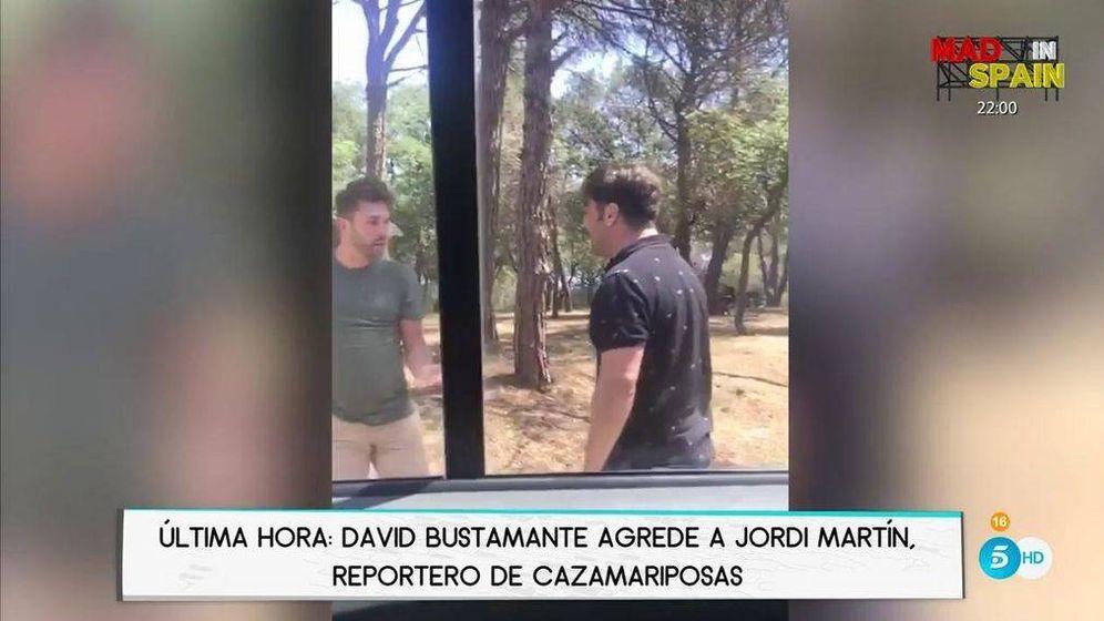Foto: El periodista Jordi Martín y David Bustamante.