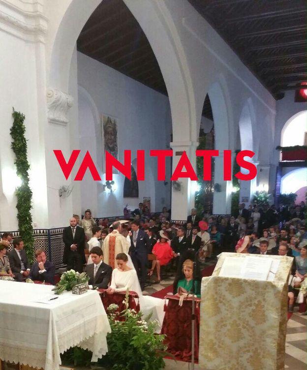 Foto: Imagen del interior de la iglesia durante la boda de Cayetano Rivera y Eva González (Vanitatis)