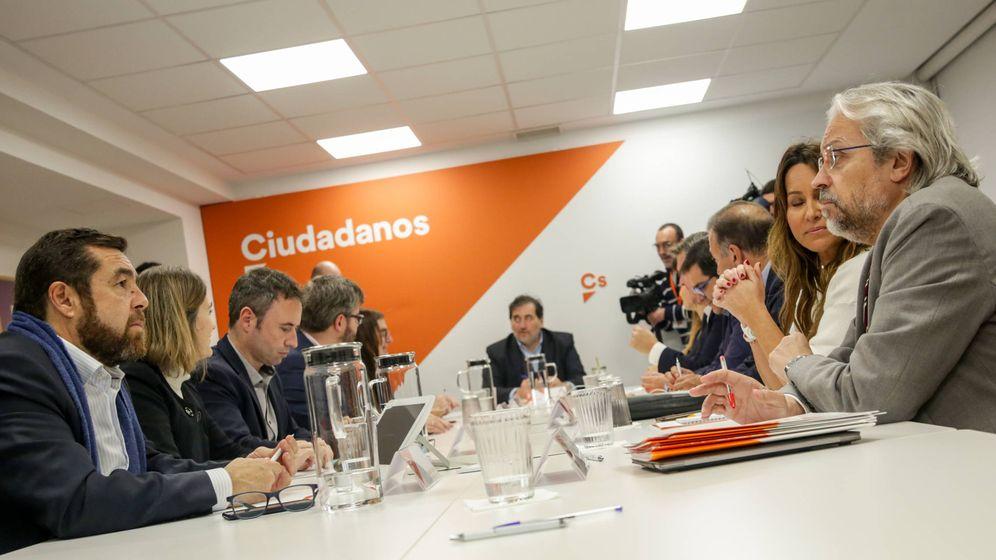 Foto: Reunión de la Comisión Gestora de Ciudadanos (Cs)