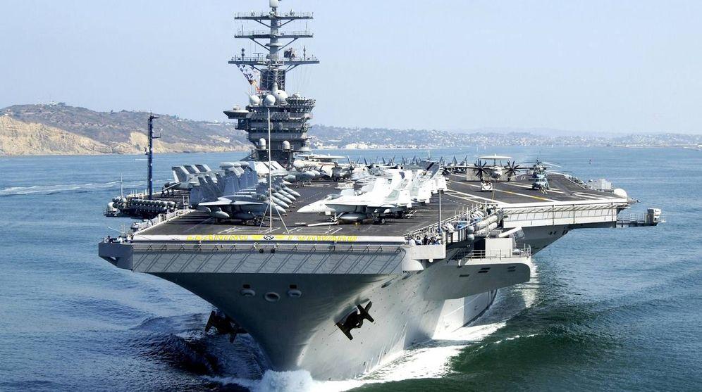 Foto: El portaaviones nuclear estadounidense Carl Vinson.