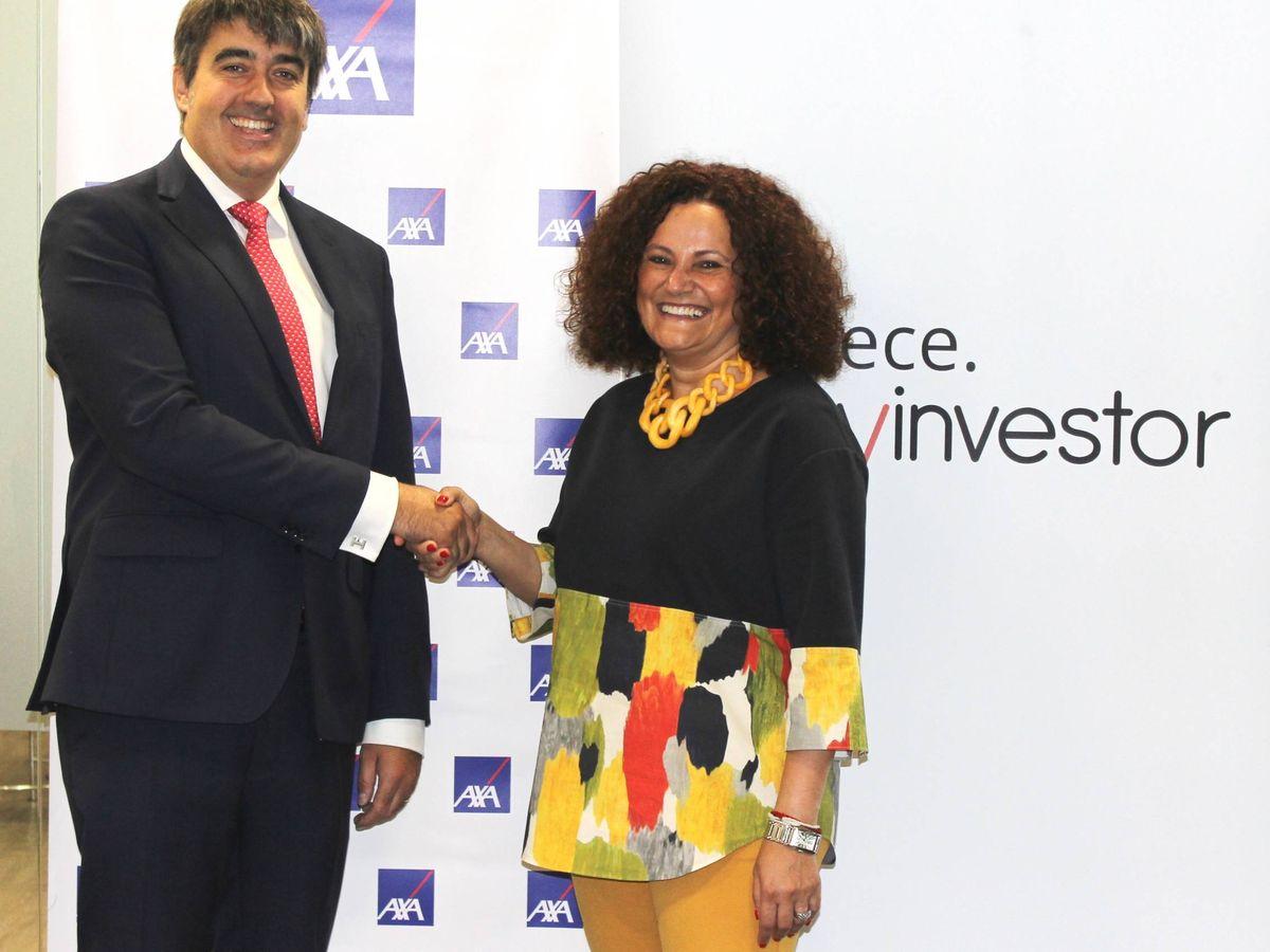 Foto: El consejero delegado de Andbank, Carlos Aso, junto a la consejera delegada de Axa España, Olga Sánchez.