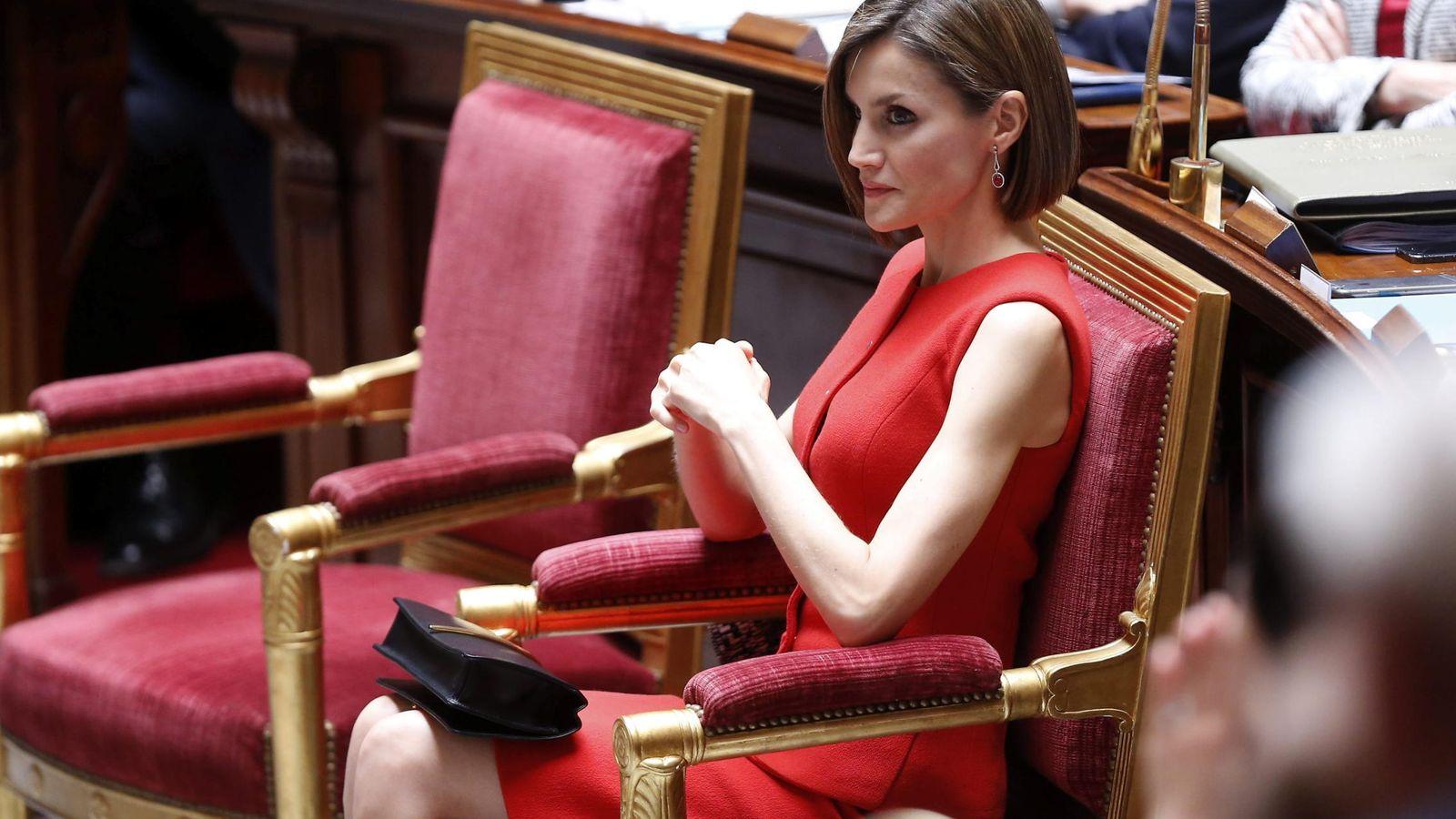 Foto: La Reina durante el discurso de Felipe VI (Gtres)
