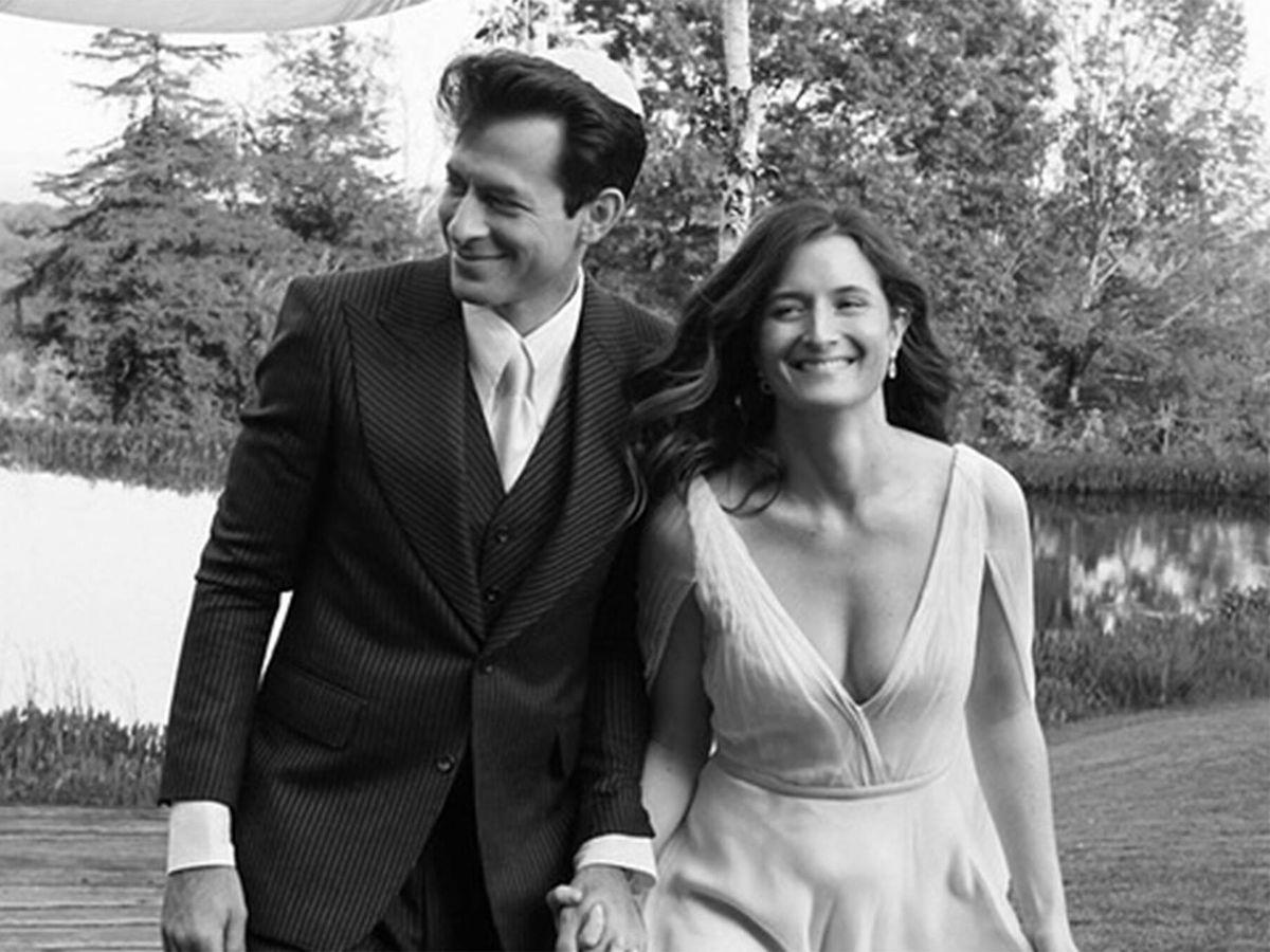 Foto: Grace Gummer y Mark Ronson, el día de su boda. (Instagram @iammarkronson)
