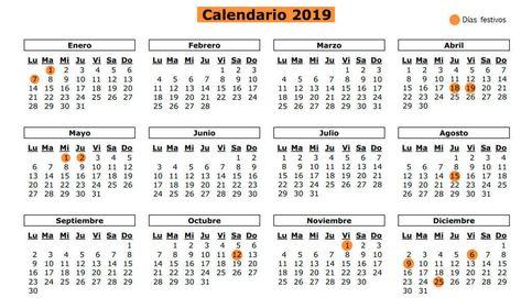 Calendario laboral 2019 de Madrid: los doce festivos y puentes de la comunidad